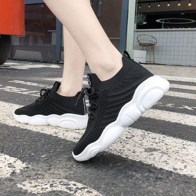 运动鞋女ins潮2020春夏季新款韩版百搭跑步鞋网红超火老爹袜子鞋