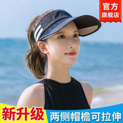 遮阳帽女夏天防晒遮脸防紫外线韩版潮可伸缩百搭大沿太阳空顶帽子