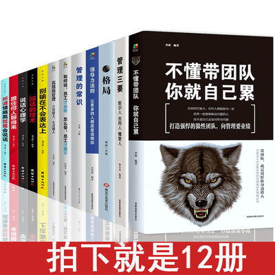 管理方面的书籍领导力不懂带团队你就自己累管理的常识企业管理