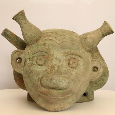 人面壶青铜器仿古工艺品摆件博物架礼品博物馆收藏品复制影视道具