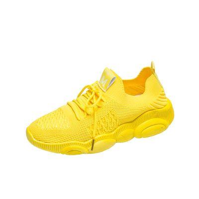 ins百搭透气袜子鞋女2020新款夏季韩版小熊飞织运动鞋学生跑步鞋
