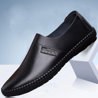 男鞋春季新款皮鞋软面皮软底豆豆鞋英伦时尚休闲鞋一脚蹬懒人鞋