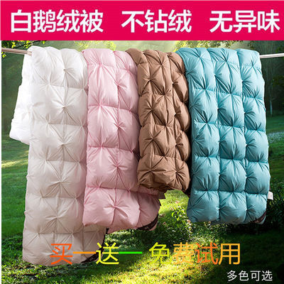 100%羽绒被子冬被加厚纯棉婚庆正品白鹅绒被芯春秋夏凉被空调被