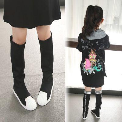 女童靴子夏秋冬季2017新款高筒单靴韩版公主棉鞋儿童长靴中大童鞋