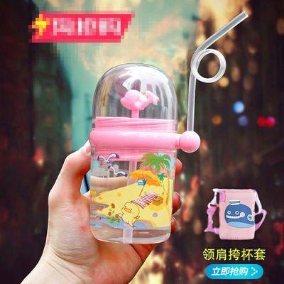 喷水鲸鱼杯喷泉学生水杯子小鲸鱼新款会喷水的金鱼饮水杯便携网红