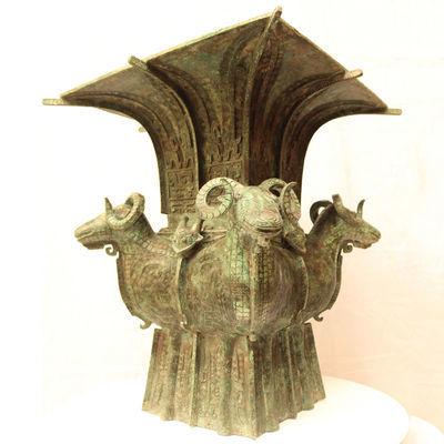 商朝四羊方尊青铜礼器酒器博物馆复制品古董古玩收藏品影视道具