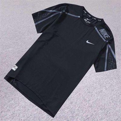 夏季男T恤短袖弹力户外运动T恤衫透气吸汗速干健身跑步上衣