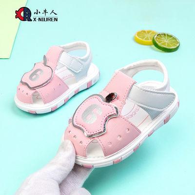 小牛人童鞋软皮包头儿童凉鞋女软底宝宝学步鞋夏1-3岁男童叫叫鞋
