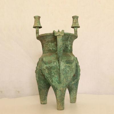 青铜�星嗤�酒器仿古礼器古玩古董收藏品博物馆收藏品影视道具礼品