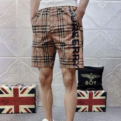 夏季新款休闲五分裤社会小伙显瘦百搭沙滩裤网红ins格子大码短裤