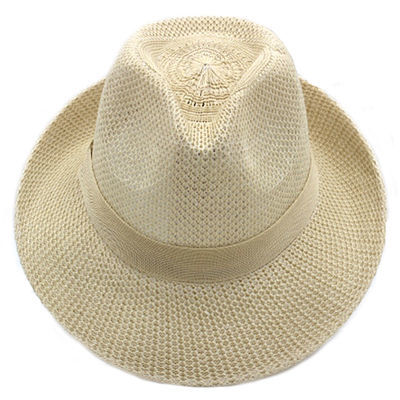 帽子男夏季透气大沿礼帽中老年爸爸爷爷老人老头防晒遮阳帽户外帽