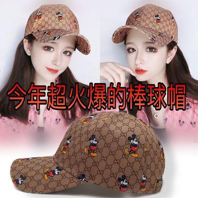 网红潮流爆款韩版刺绣米奇棒球帽米老鼠鸭舌帽情侣帽遮阳太阳帽女