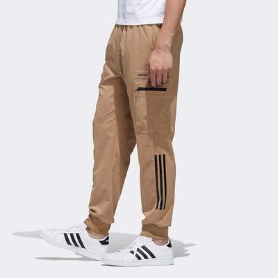 阿迪达斯Neo裤子男2020春工装裤运动裤休闲收口长裤休闲裤FT0520