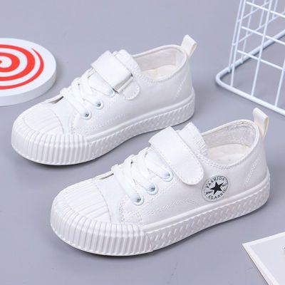 春季新款儿童帆布鞋男童小白鞋女童韩版板鞋休闲鞋学生软底跑步鞋