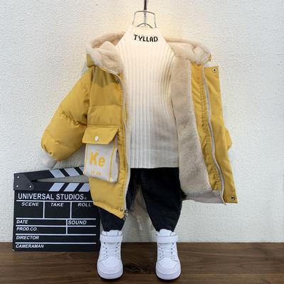 男童棉服洋气冬装新款宝宝棉袄韩版小儿童加绒棉衣男孩加厚外套潮