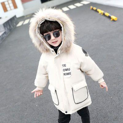 男童棉服2019新款宝宝冬装洋气外套加厚小童羽绒棉衣儿童冬季棉袄
