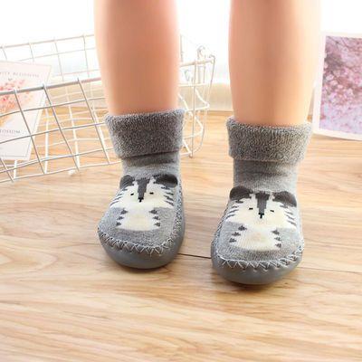 婴儿鞋袜春秋冬款早教宝宝地板袜防滑保暖厚软底童袜儿童袜子袜套