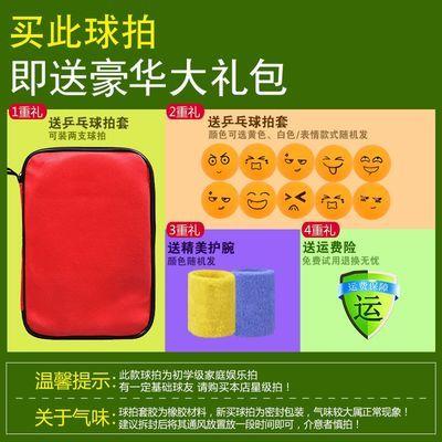 红双喜乒乓球拍双拍2只装儿童学生初学者兵乓球拍子直横单拍正品