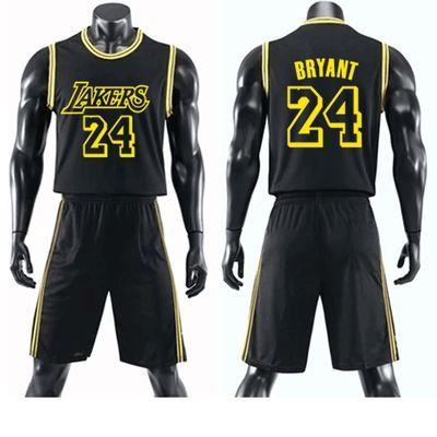 湖人队篮球服套装男女科比24号詹姆斯23号球衣短袖篮球团购服印号