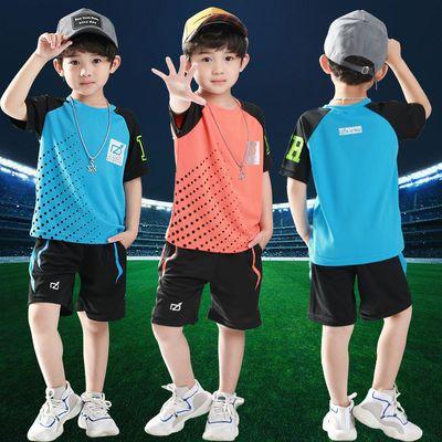 男童运动套装夏季装速干衣2019新款中大童男孩儿童夏装足球篮球服