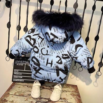 男童棉服中长款洋气冬装2019新款儿童外套宝宝棉袄男孩加厚棉衣潮