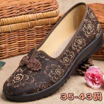 老奶奶鞋女70-80岁老北京布鞋妈妈鞋大码41-43中老年春秋红色女鞋