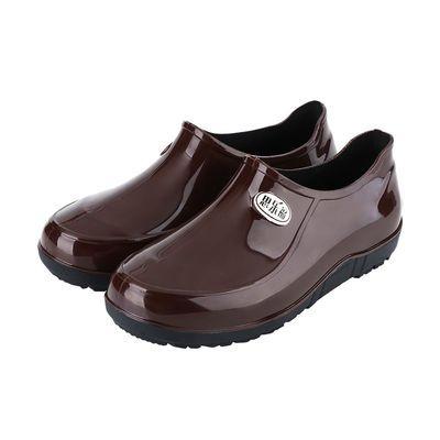 春秋雨鞋男低帮晴雨靴时尚韩版短筒工作鞋耐磨防水鞋防滑厨房胶鞋