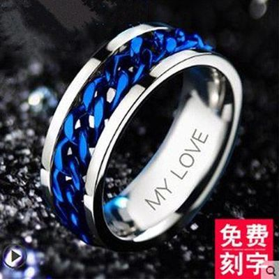开瓶器开啤酒瓶盖神器个性时尚潮网红指环链条旋转戒指情侣男女