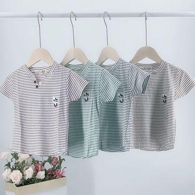 儿童夏装短袖纯棉男女童夏季T恤中小童韩版潮衣宝宝半袖上衣薄款