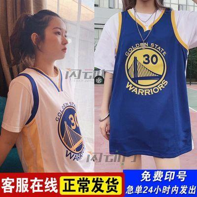 定制湖人队詹姆斯23号球衣情侣韩版宽松bf风外穿男女库里30篮球服