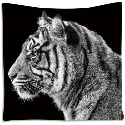 热销北欧挂布背景布黑底狮子壁毯卧室宿舍墙面装饰布沙滩巾