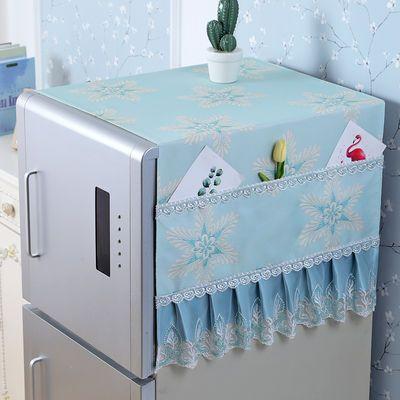 冰箱盖布防水冰箱罩单开门双开门冰箱巾洗衣机罩万能盖巾防尘罩帘