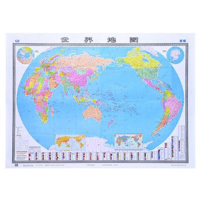 2019新版世界地图贴图1.5米1.1高清墙挂拼接折叠超大办公室学生用