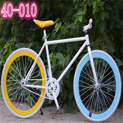 死飞自行车2426寸倒刹彩色男女学生成人款式公路复古荧光山地单车