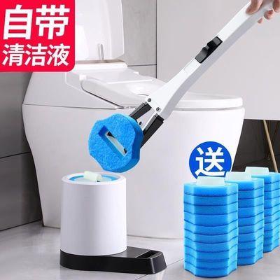 13905/一次性马桶刷套装卫生间清洁无死角家用神器可抛替换头洗厕所刷子