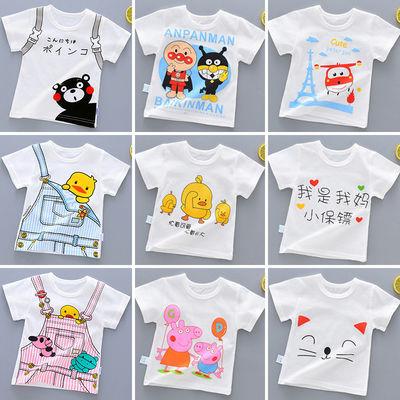 儿童短袖t恤纯棉宝宝夏装女童半袖男孩小童装婴儿上衣服夏季洋气