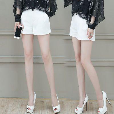 高腰雪纺短裤女2020夏季新款韩版宽松大码西装休闲显瘦阔腿a字裤