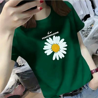 小雏菊短袖T恤女2020夏季新款韩版女装修身网红ins超火潮半袖上衣
