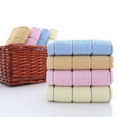 2条3条5条名宇纺织柔软纯棉弱捻蜂窝毛巾100克成人洗脸面巾特优惠