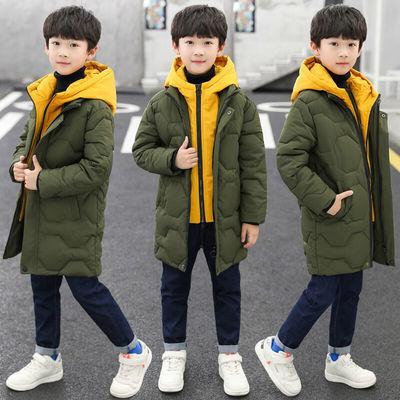男童棉服2019新款儿童冬装中大童男孩中长款棉衣外套韩版棉袄潮衣