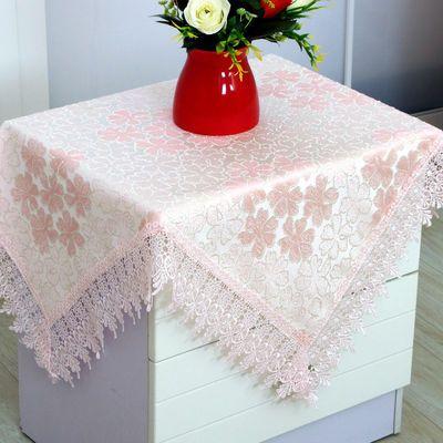 床头柜盖巾盖布小圆桌布茶几台布方形微波炉冰箱防尘多用万能盖巾