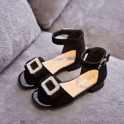女童凉鞋公主鞋小女孩高跟鞋时尚露趾儿童凉鞋女宝宝夏季2020新款