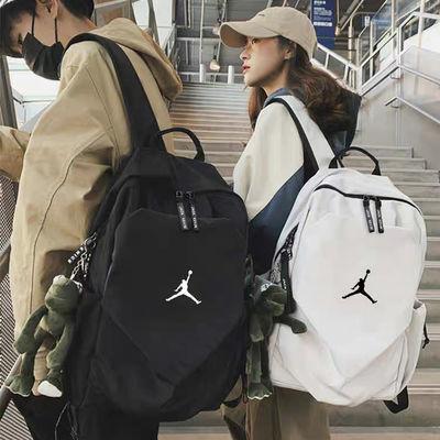 aj飞人休闲运动帆布学生书包男nk韩版旅行包双肩背包骑行电脑包潮