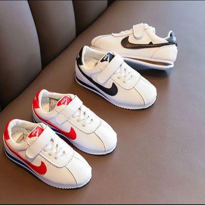 儿童阿甘鞋2020春季新款女学生网红小白鞋真皮透气男童运动鞋潮