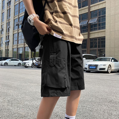 夏季薄款工装短裤男韩版潮牌学生宽松休闲运动裤ins男士五分裤潮