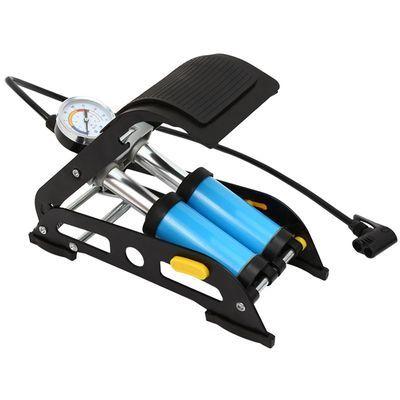 脚踩打气筒电瓶车自行车高压充气泵汽车家用通用脚踏式便携气管子