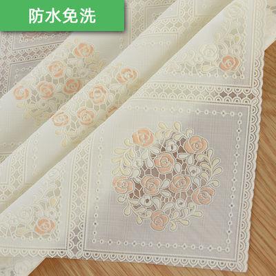 桌布防水防烫防油免洗餐桌垫长方形茶几台布田园欧式PVC塑料布艺