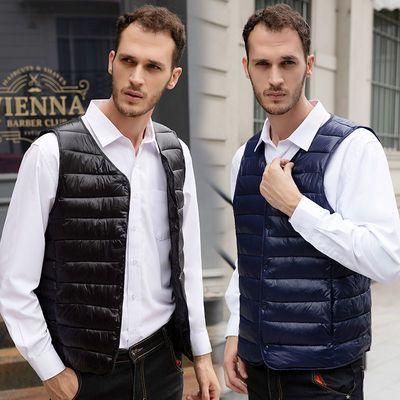 新款男士羽绒棉马甲修身轻薄款保暖背心内穿短款棉马夹坎肩内胆