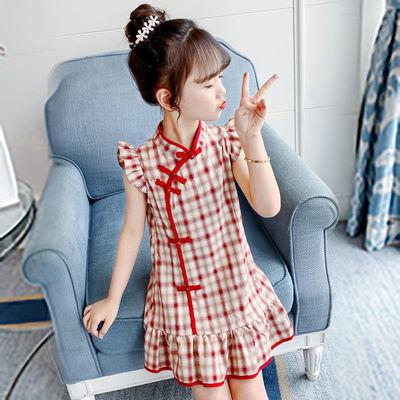 女童旗袍裙子中国风大童公主裙洋气儿童装汉服夏季2020新款连衣裙