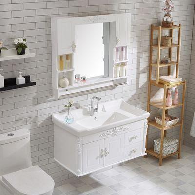 特价欧式PVC浴室柜组合挂墙式小户型卫生间洗手盆洗脸盆面盆浴镜